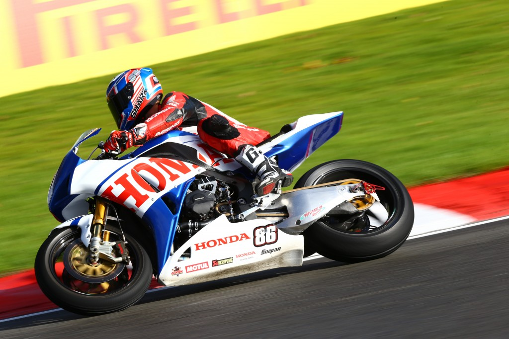 Julien Da Costa competes at the final round of Brands Hatch BSB aboard the_ special-livery CBR1000RR Fireblade designed by Conor Cummins