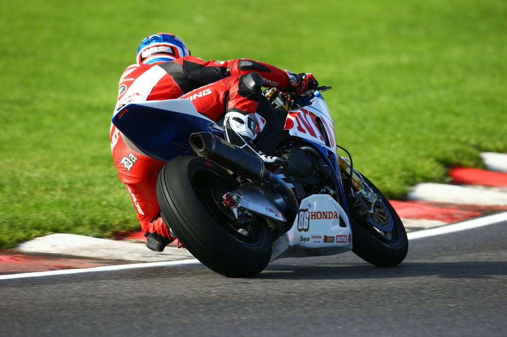 Julien Da Costa competes at the final round of Brands Hatch BSB aboard the_ special-livery CBR1000RR Fireblade designed by Conor Cummins 2